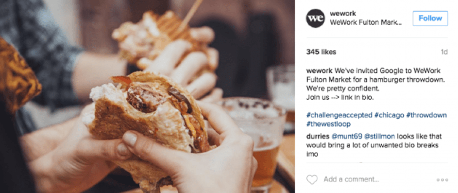 wework instagram post